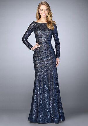 La Femme Evening 24919 Blue Mother Of The Bride Dress