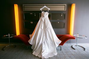 Satin Ivory Wedding Gown