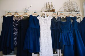 Blue-Hued Bridesmaid Dresses