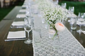 Exposed Tables With Lace Runners