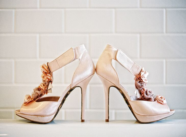 Mike loved the Betsey Johnson heels Jessica wore on the big day.