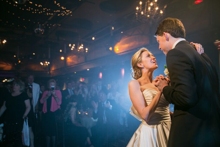 """Minneapolis-based band The Sevilles performed """"Don't Dream It's Over"""" for the couple's first dance as newlyweds."""