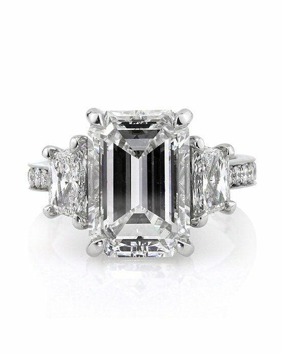 Mark Broumand 7.18ct Emerald Cut Diamond Engagement Ring ...