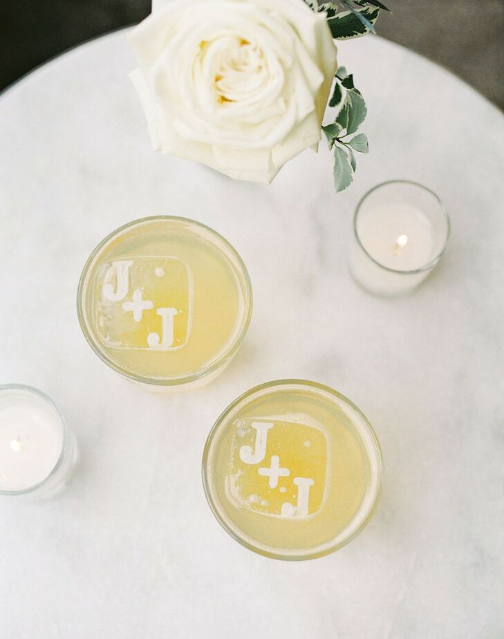 Personalized Ice Cubes in Elegant Cocktails