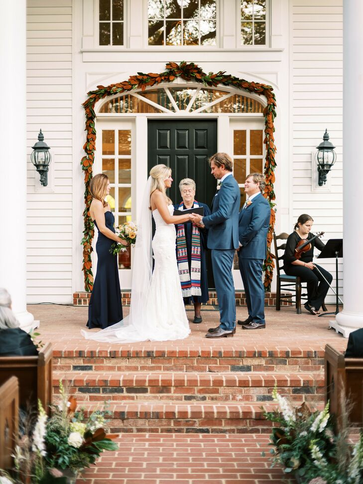 Ceremony at Rustic Estate Wedding in Ladue, Missouri