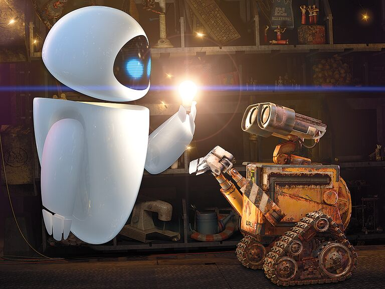 Wall-E and Eve famous disney couples