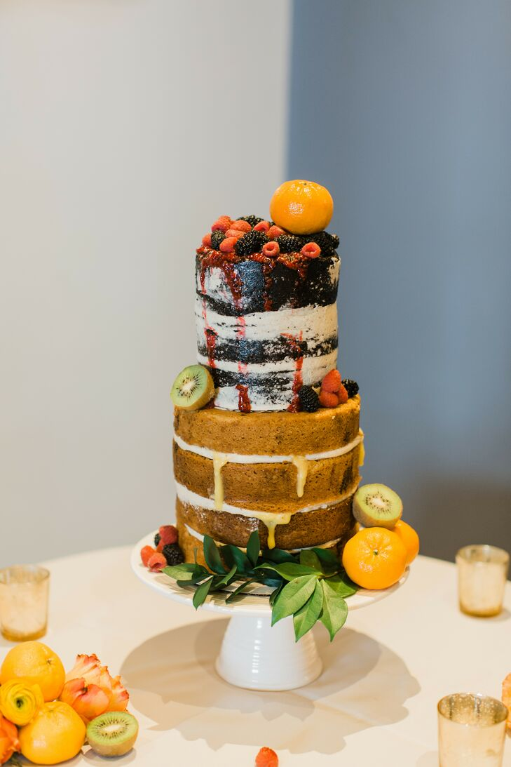 Naked Cake for Wedding at the Kimpton Brice Hotel in Savannah, Georgia