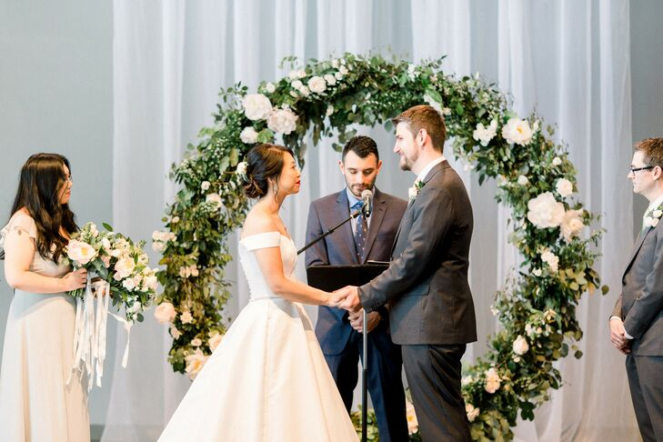 Ceremony at Industrial Chic Wedding in Downtown Minneapolis