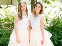 junior bridesmaids smiling