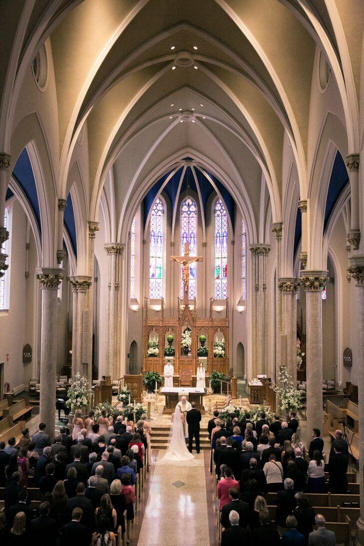 High Ceiling Catholic Church Ceremony