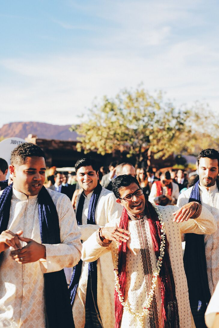 Guests Dance During Groom's Processional Baraat