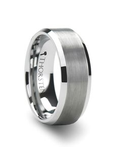 Mens Tungsten Wedding Bands W321-FPB Tungsten Wedding Ring