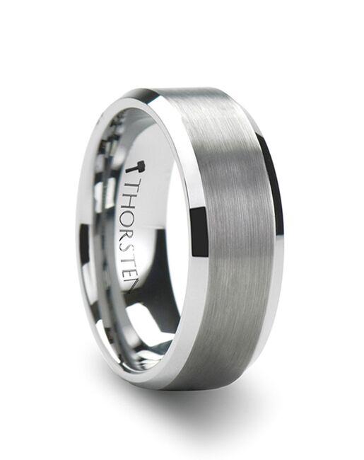 Mens Tungsten Wedding Bands W321-FPB Tungsten Wedding Ring