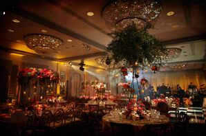 Moody, Flower-Filled Reception at The Rittenhouse Hotel in Philadelphia