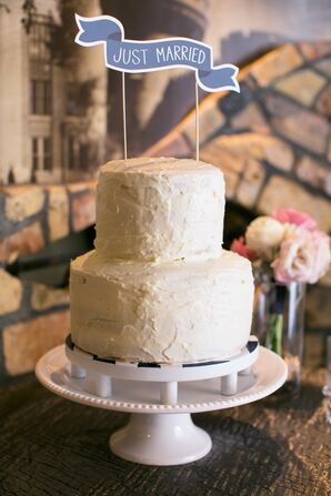 Two-Tier White Wedding Cake