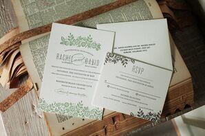 Minted.com Garden-Inspired Letterpress Invitations