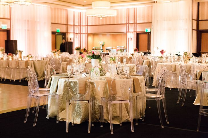 Kelly described the inspiration for the reception decor as untraditional, eclectic, mid-century and modern design.