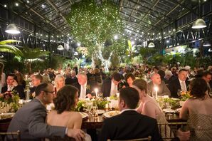 Nighttime Wedding Reception at Planterra