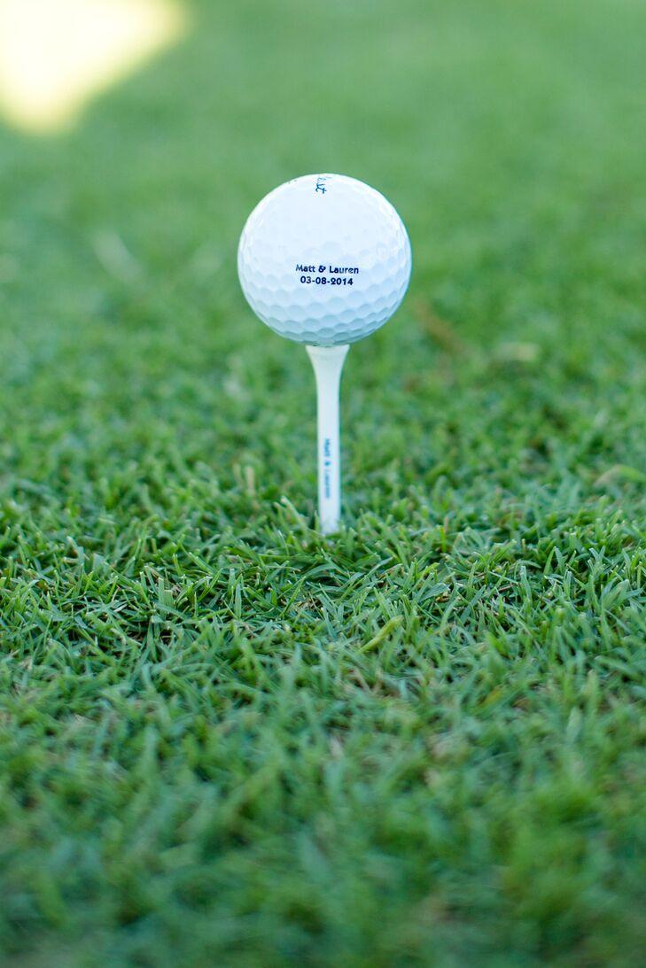 Personalized Wedding Date Golf Balls