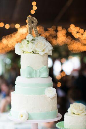 DIY Three-Tier White Cheesecake Wedding Cake