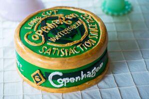 DIY Copenhagen Tobacco-Inspired Groom's cake