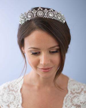Dareth Colburn Joelle Vintage Crown (TI-3286) Silver Tiara