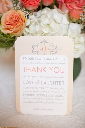 Ivory Thank-You Stationery With Monogram