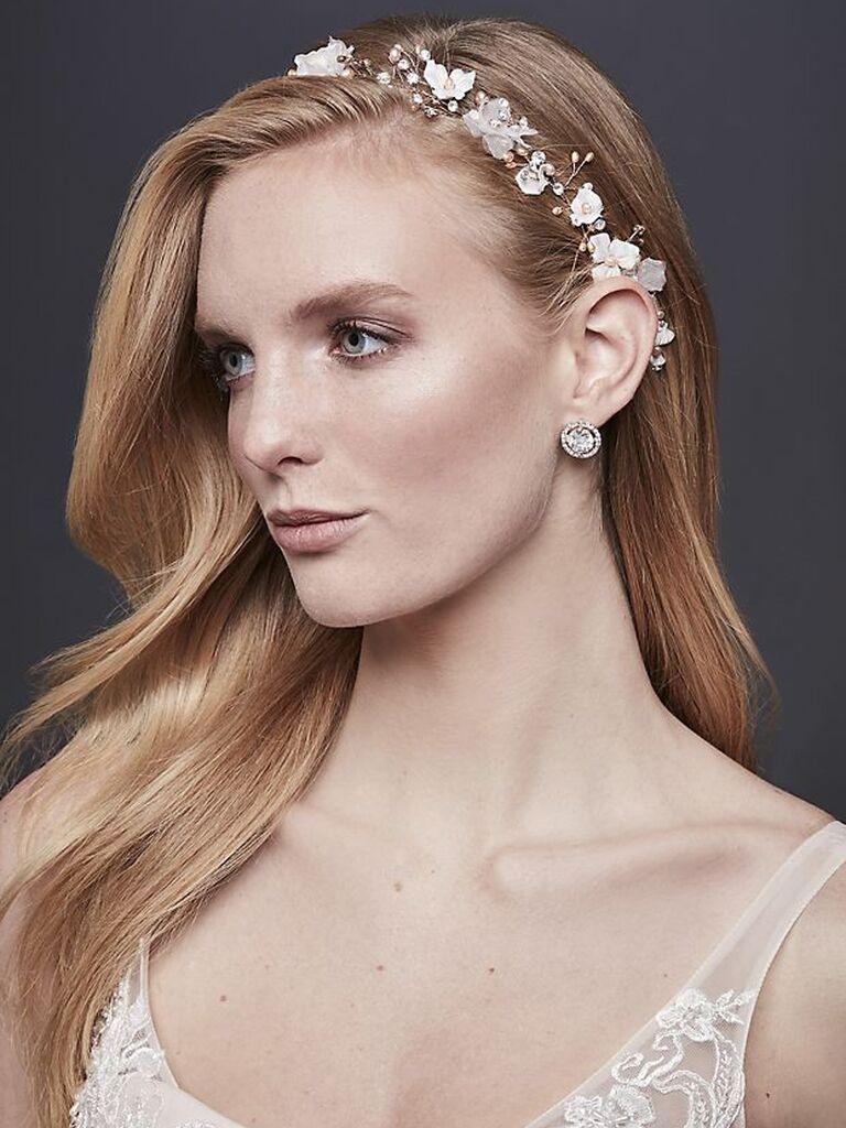 3-D floral wedding headband