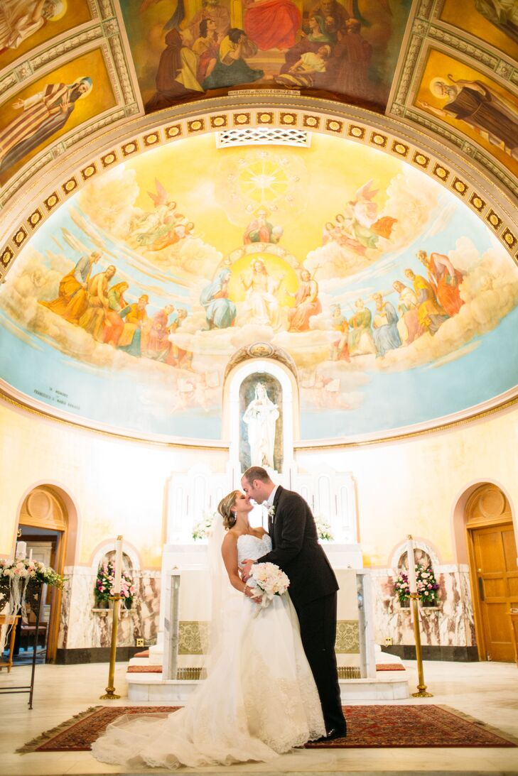 Morgan Decker (26 and a pharmacist) and Matt Zutter (27 and a pharmacist) held their wedding ceremony in a special place to both if them—at St. Mary o