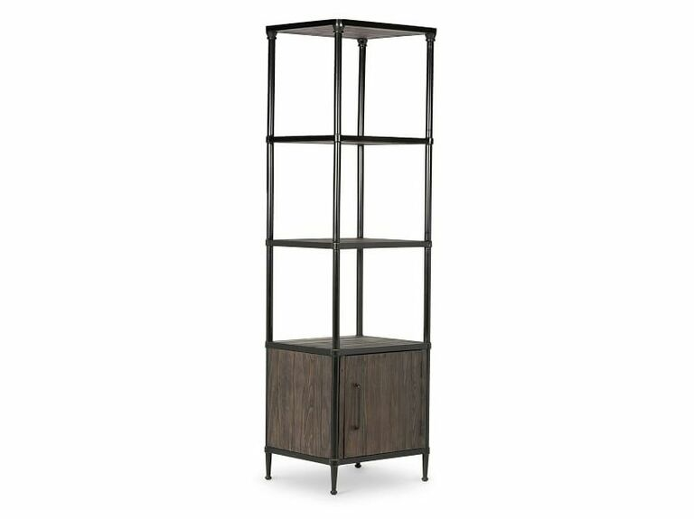 Metal and reclaimed wood media tower