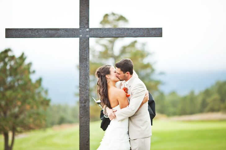 Wooden Cross Ceremony Backdrop