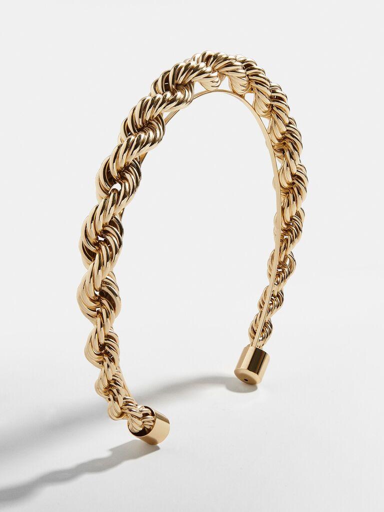 Gold chain twist headband