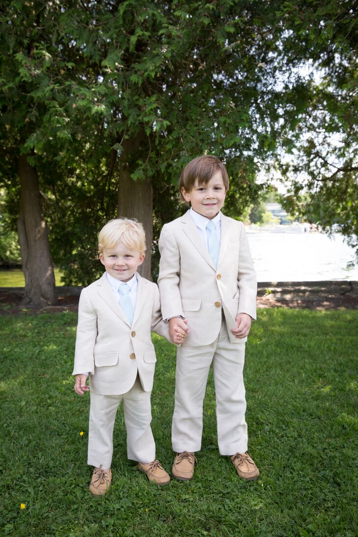 Ring Bearers in Khaki Suits