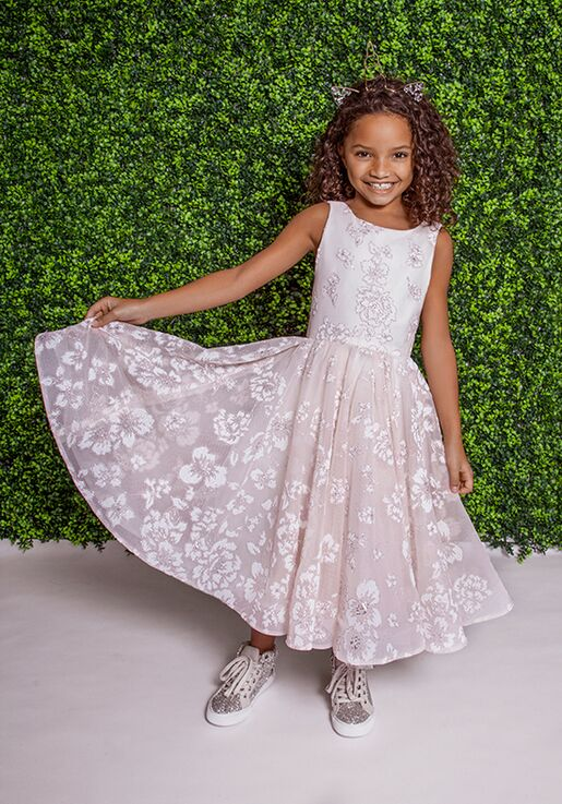 La Petite by Hayley Paige 5822-Eloise Pink Flower Girl Dress