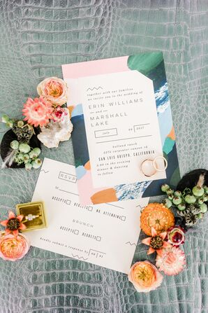 Colorful, Modern Wedding Invitations