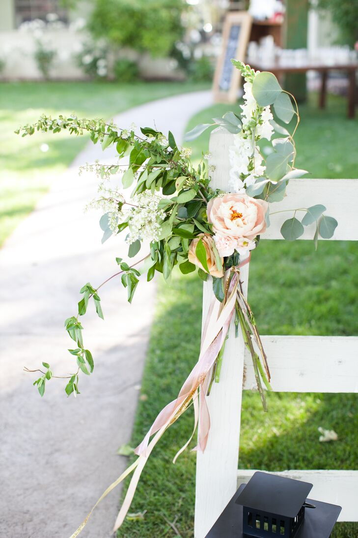 Peony and Greenery Flower Arrangement