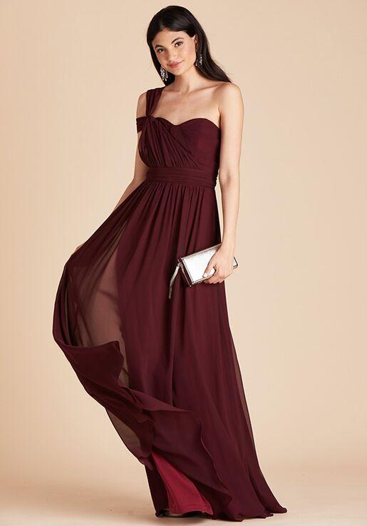 Birdy Grey Grace Convertible Dress in Cabernet Strapless Bridesmaid Dress
