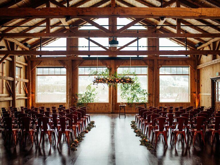 winter wedding ideas barn venue