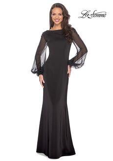 La Femme Evening 25045 Black Mother Of The Bride Dress