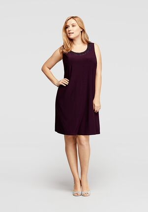 David's Bridal Mother of the Bride 8501WWP Purple Mother Of The Bride Dress