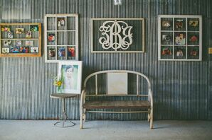 Rustic Furniture with Hanging Family Photos