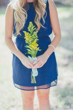 Golden Rod Stem Bridesmaid Bouquet