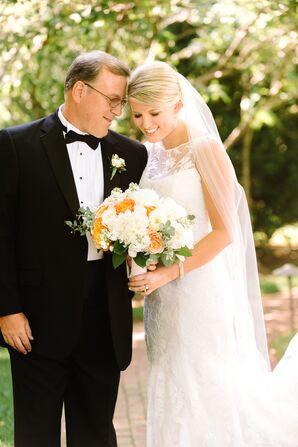 Point d'Esprit Lace Wedding Dress