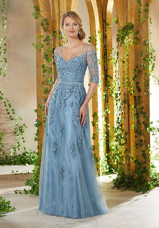 MGNY 71931 Blue Mother Of The Bride Dress