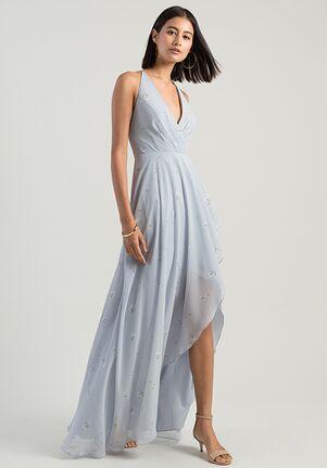 Jenny Yoo Collection (Maids) Farrah Ditsy Print V-Neck Bridesmaid Dress