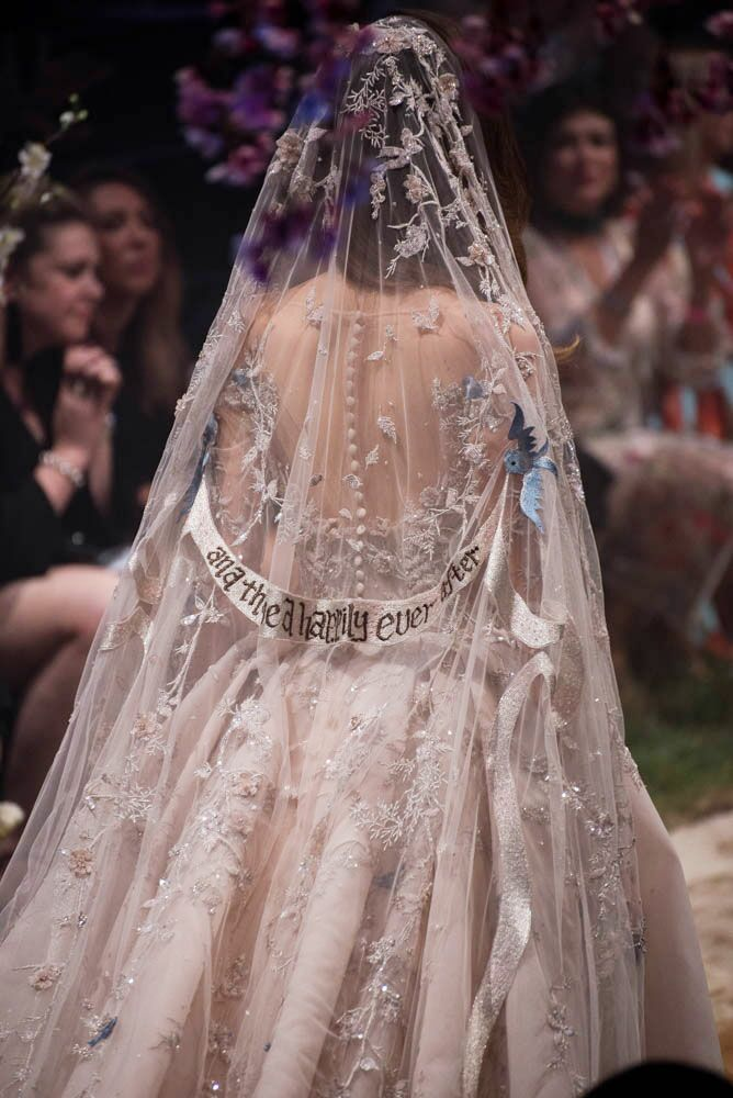 Paolo Sebastian Disney gowns embroidered veil