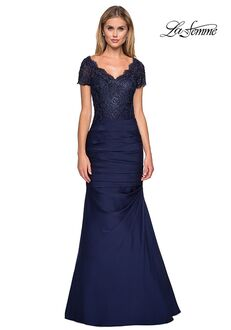 La Femme Evening 26979 Blue Mother Of The Bride Dress