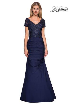 adb4fd82f La Femme Evening 26979 Blue Mother Of The Bride Dress