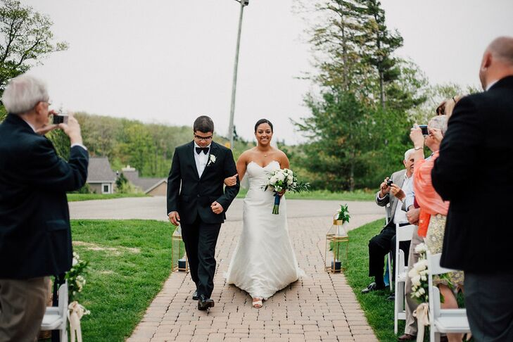 "Kelsey's brother, Eli, walked her down the aisle. ""He is a light in my life,"" she says. ""He brings me so much joy. It was the greatest having my two favorite guys in the world up there."""
