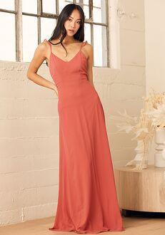 Lulus Meteoric Rise Rusty Rose Maxi Dress V-Neck Bridesmaid Dress